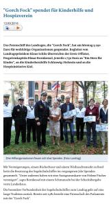 Wir danken der Besatzung der Gorch Fock für die großzügige Spende. (Text und Foto: Landtag Schleswig-Holstein)